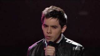 Клип David Archuleta - And So It Goes (live)