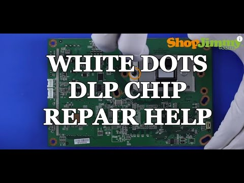 Replacing Mitsubishi 276P595010 DLP Chip Replacement White Dots Issue DLP HD TV Repair