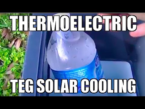DIY SOLAR COOLING REFRIGERATION Solar Panel thermoelectric Peltier Cooler