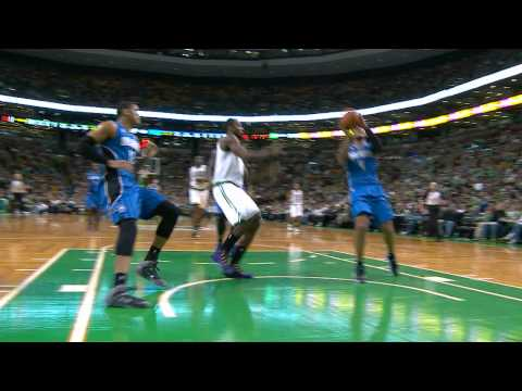 Jeff Green Flies in for the Major Swat on Arron Afflalo