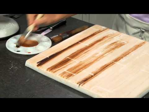 How To Make Distressed Wood Cake