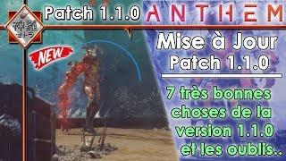[NEWS]Anthem - 7 très bonnes choses de la Version 1.1.0! ET LES OUBLIS.
