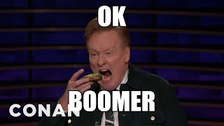 The Boomer Inquisition Questions Conan - CONAN on TBS