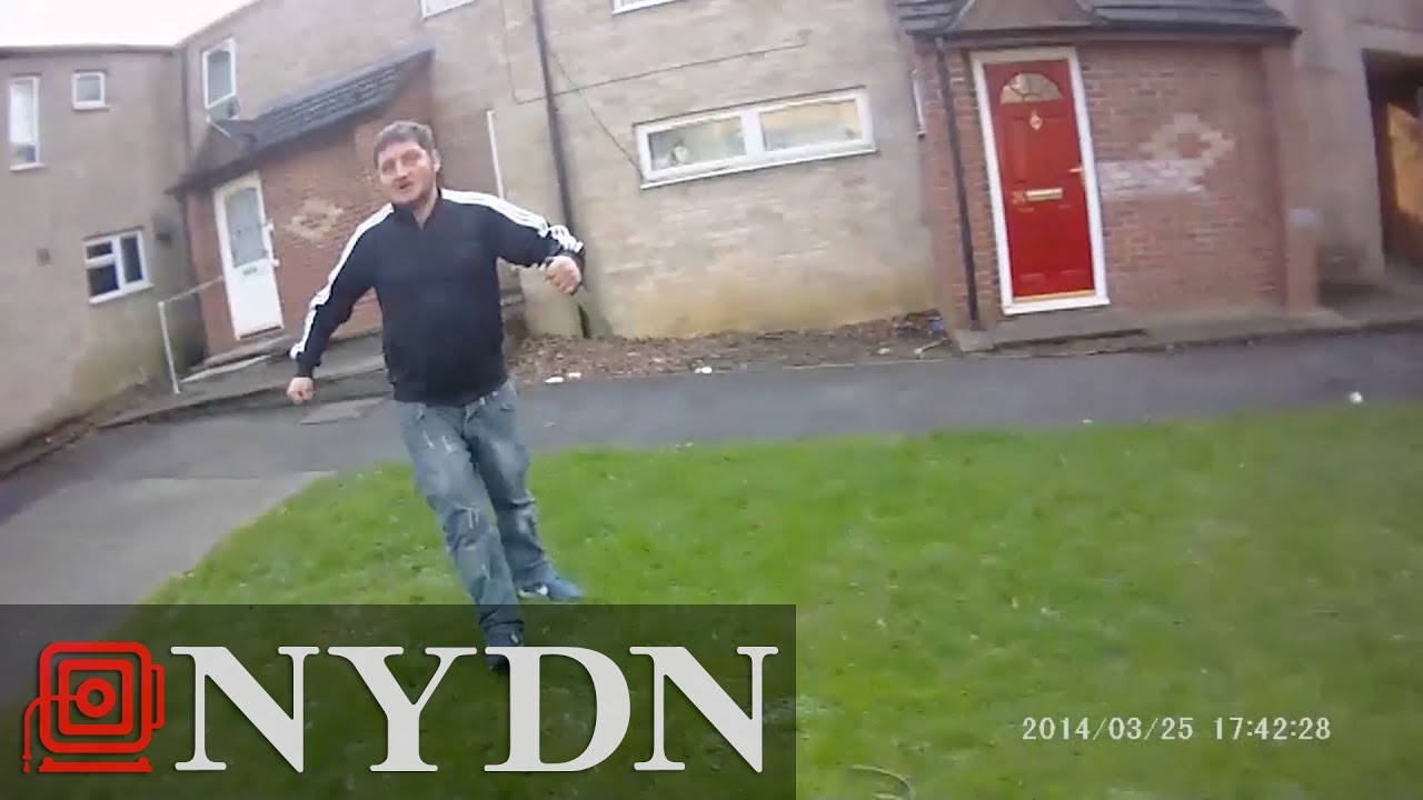 British man attacks police with knife