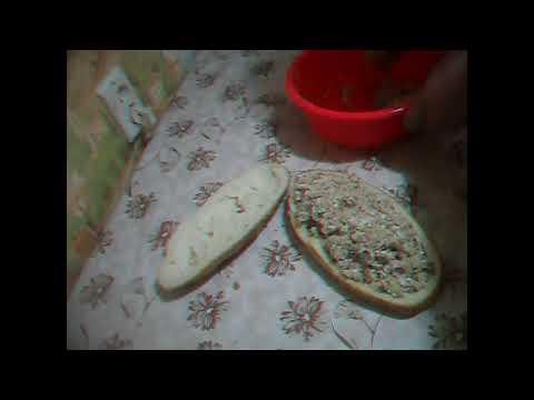 Быстрый бутерброд из батона на ужин, завтрак или закусон.