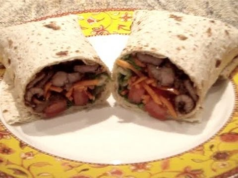 Asian Beef Wrap Recipe