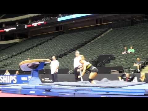 Shawn Johnson - 2011 Visa Championships Podium Training - Vault
