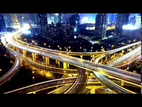 timelapse of freeway busy city rush hour heavy traffic jam highway shanghai at night y
