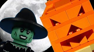 The Witch's Jack O'Lantern - a lego halloween brickfilm stop motion animation
