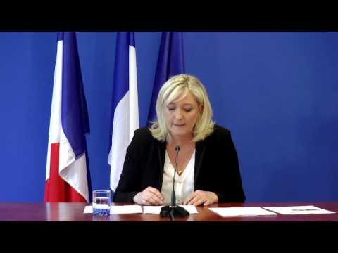 Conférence de presse de Marine Le Pen