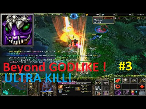 DotA 6.83d - Slark Beyond GODLIKE ! #3 (ULTRA KILL)