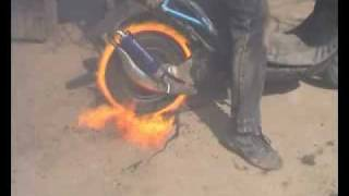 Honda Dio burn out