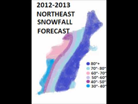 NORTHEAST US 2012-2013 Winter Snowfall Forecast Totals