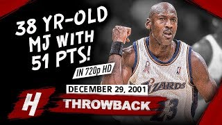 The Game OLD Michael Jordan SHUTS DOWN Critics! CRAZY Highlights vs Hornets 2001.12.29 - 51 Points!