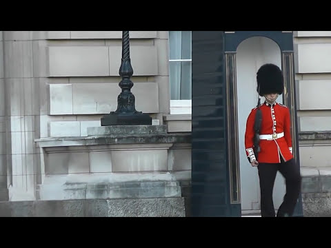 Buckingham Palace Royal Guard in a rage.avi