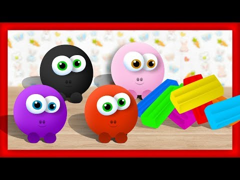 Разноцветный ПЛАСТИЛИН - Лепим пластилиновые Смешарики. Видео для Самых Маленьких
