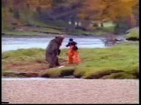 Pelea de oso y Hombre