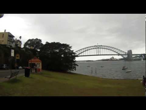 Quadcopter fly fishing in sydney harbour.