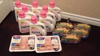 Walmart Shopping Haul Saved 98% Baby Laundry Detergent Stock Pile ;) May 10, 2015