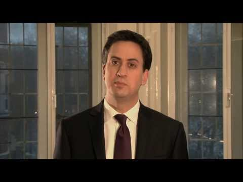 Ed Milliband video message for student pride