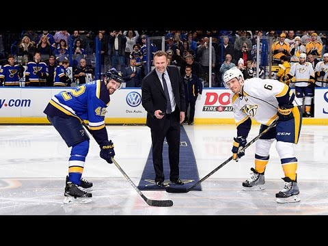 Brodeur drops the puck in St. Louis