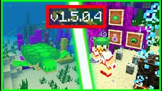 ВЫШЕЛ Minecraft 1.5.0.4, ДОБАВИЛИ ЧЕРЕПАХ + НОВЫЙ ЭФФЕКТ И ПУЗЫРЬКИ!