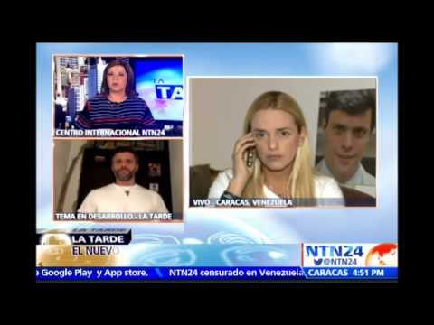 """""""Leopoldo López está aislado, lo tiene secuestrado Nicolás Maduro en una cárcel"""": Lilian Tintori"""