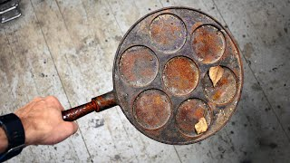I Found Rusty Cast Iron Pan from Trash and Restored It
