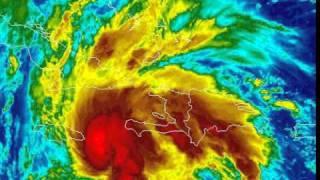 Hurricane Tomas Satellite Passing Jamaica And Approaching Haiti