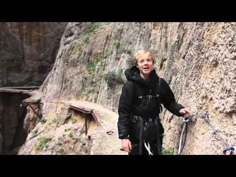 El Camino Del Rey, El chorro. Spain 25-12- 2011 HD (The kings walkway)