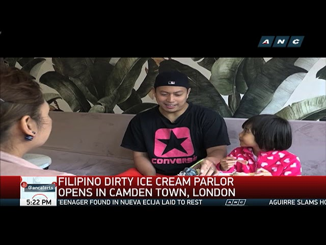 Filipino 'dirty' ice cream parlor opens in London