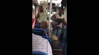 Haitian mother gets beating from her disrespectful child on the metro bus
