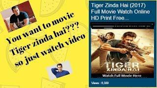 Watch Online Tiger Zinda Hai Movie 2017!! HD PRINT