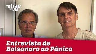 Bolsonaro é entrevistado pelo Pânico