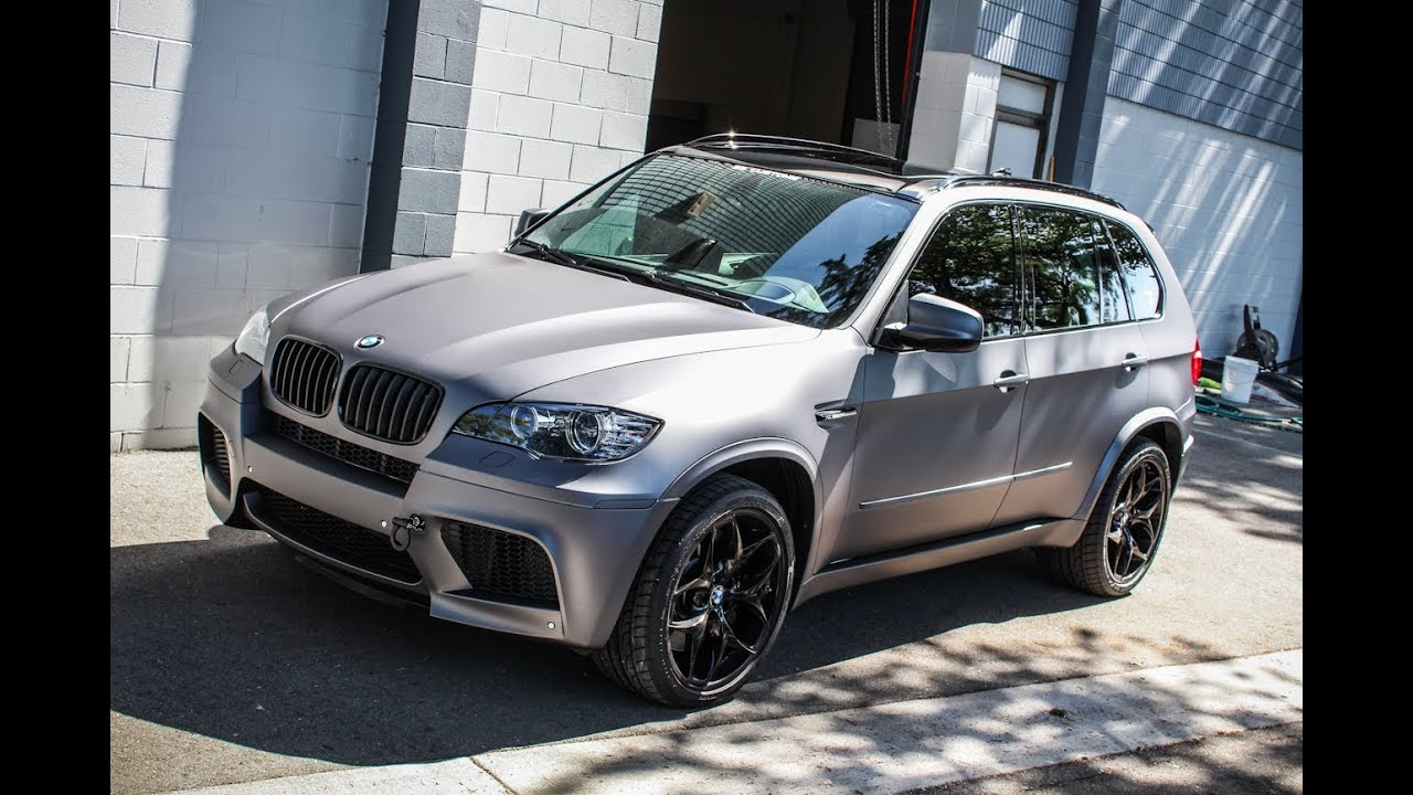 Bmw X5 M Matte Metallic Grey Vinyl Wrap Ss Customs