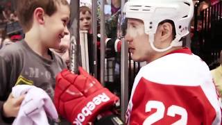 Hockey players making fans days