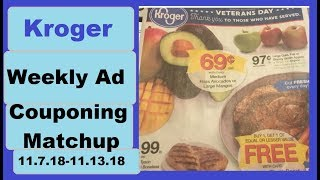 Kroger Weekly Ad Couponing Matchup- 11/7/18-11/13/18- CHEAP Turkeys and MORE!