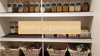 Pantry organization ideas ON A BUDGET | Tips for organising a pantry