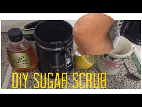 HOW I MAKE MY SUGAR SCRUB FOR STRAWBERRY LEGS