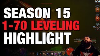 Diablo 3 - Leveling 1-70 Season 15 Twitch Highlight