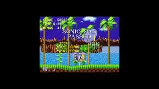 Sonic the hedgehog 1 Green Hill zone act 1 in 29 seconds easter egg