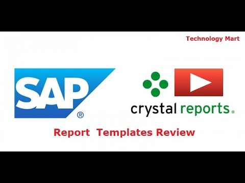Templates Review in SAP Crystal Reporting