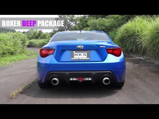 SUBARU BRZ BOXER SOUND EXHAUST SYSTEM LIGHT DEEP Package ...