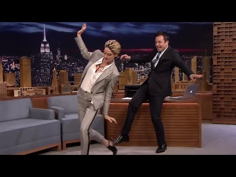 Shailene Woodley Goth DANCE Moves With Jimmy Fallon