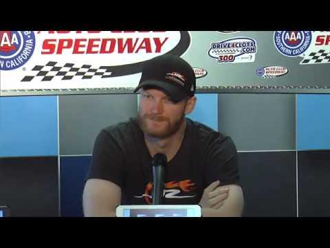 Kevin Harvick Erik Jones Brendan Gaughan Auto Club Speedway
