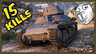 Mini Maus - 15 KILLS - World of Tanks Pz.Kpfw. 38H 735 (f) Gameplay