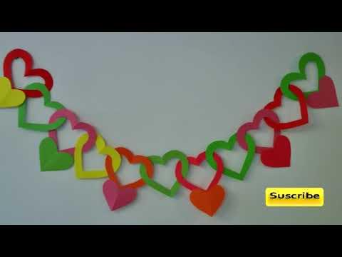Guirnalda de corazones - Adornos para colgar.(Hearts garland)
