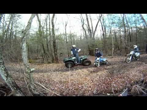 Yamaha Kodiak 400 4x4 Atv Gets Stuck