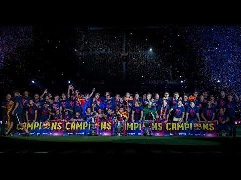The treble celebrations at Camp Nou