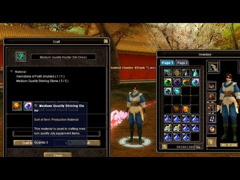 ☆[Tutorial]Silkroad New Job & Crafting
